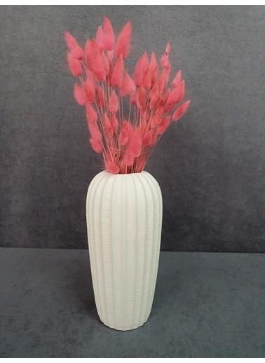 Kuru Çiçek Deposu Kuru Çiçek Pamuk Otu Demeti 35-40 Cm Mavi Pembe